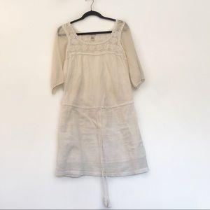 [LUCKY BRAND] 100% Cotton Midi Dress w Crochet XS